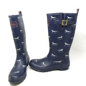 Joules Horse Welly Print Rain Winter Snow Boots 10